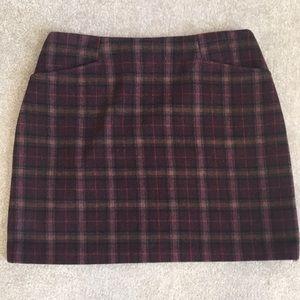Plaid Wool/Cashmere Mini Skirt